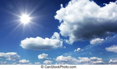 zonnig, hemel