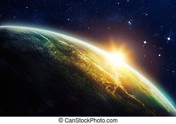 zonopkomst, ruimte