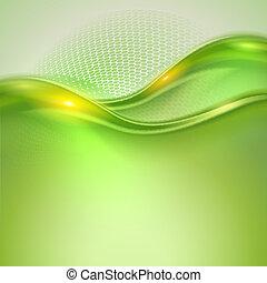 zwaaiende , abstract, groene achtergrond