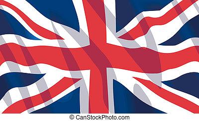 zwaaiende , nationale vlag, brits