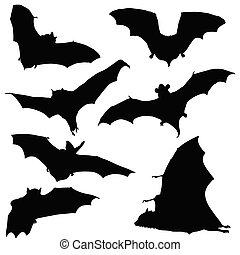 zwarte knuppel, silhouette, illustratie